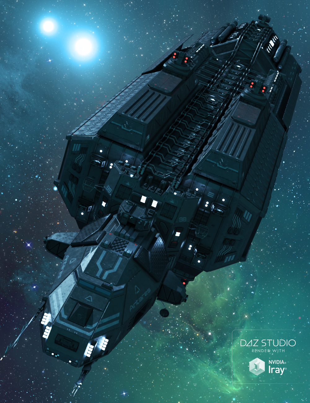 Spaceship Antares by: petipet, 3D Models by Daz 3D