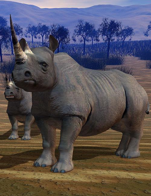 Rhino by: , 3D Models by Daz 3D
