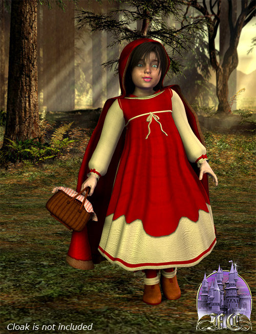 Red Riding Hood for Maddie by: Frances Coffill, 3D Models by Daz 3D