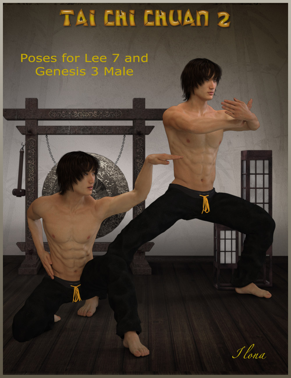 Tai Chi Chuan Poses for Lee 7 and Genesis 3 Male by: ilona, 3D Models by Daz 3D