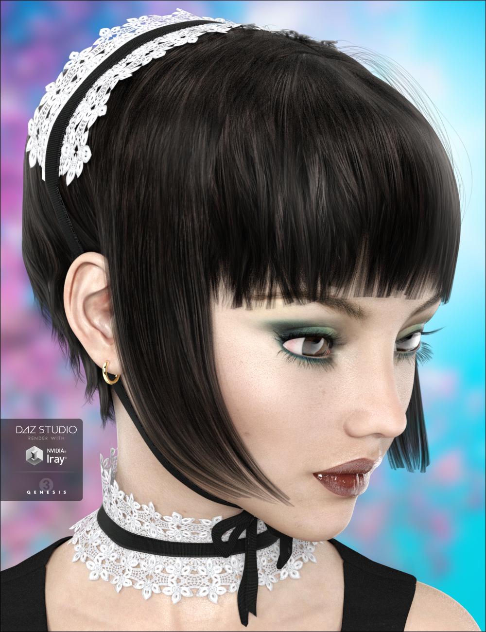 Juliette Hair by: DarkStarBurningMindVision G.D.S., 3D Models by Daz 3D