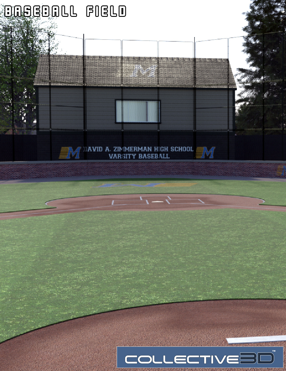 Collective3d Baseball Field by: Collective3d, 3D Models by Daz 3D