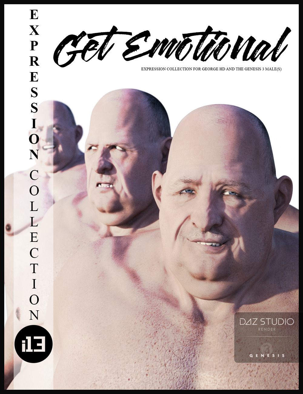 i13 Get Emotional Expressions for the Genesis 3 Male(s) by: ironman13, 3D Models by Daz 3D
