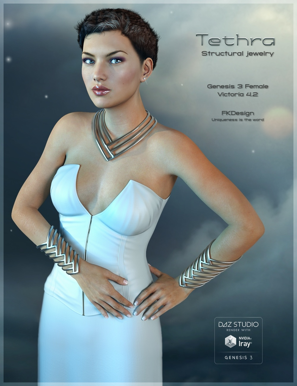 Tethra - Structural Jewelry by: Fabiana, 3D Models by Daz 3D
