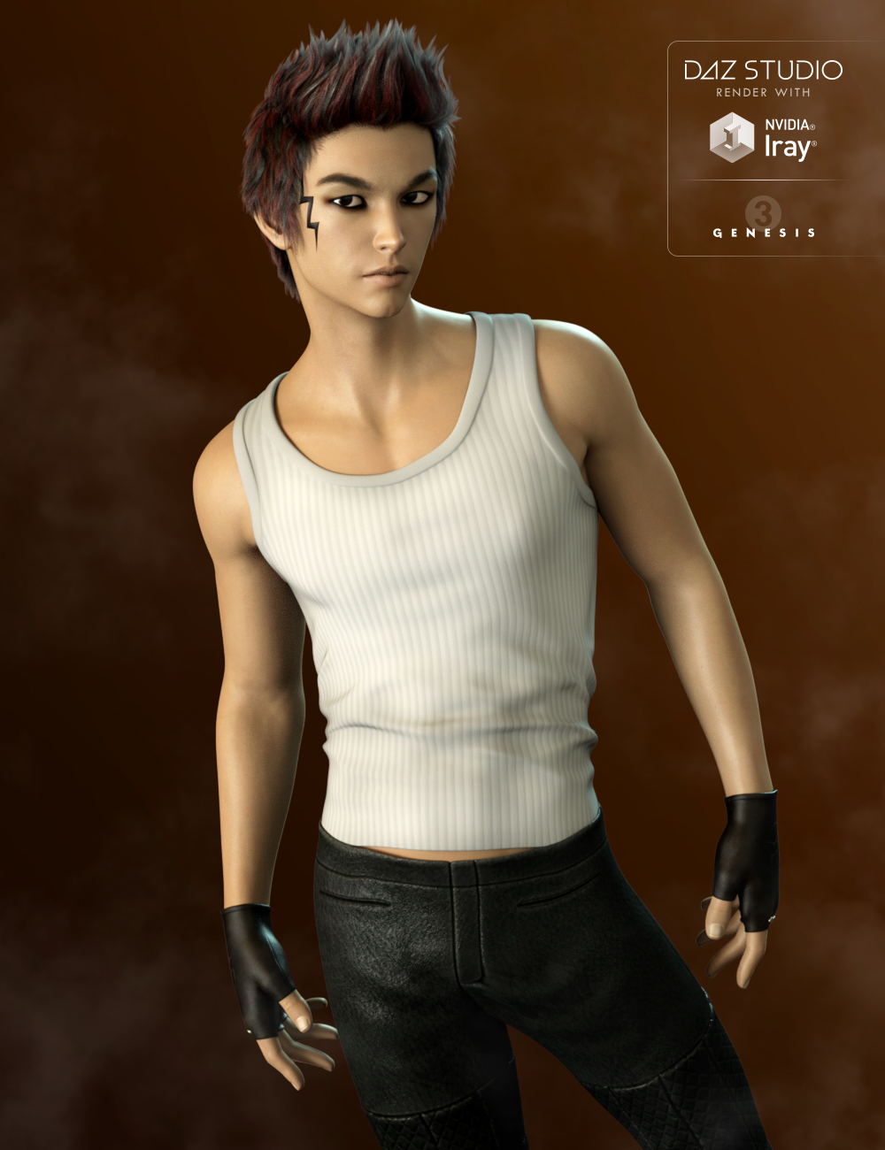 FWSA Fujio HD for Kenji 7 by: Fred Winkler ArtSabby, 3D Models by Daz 3D