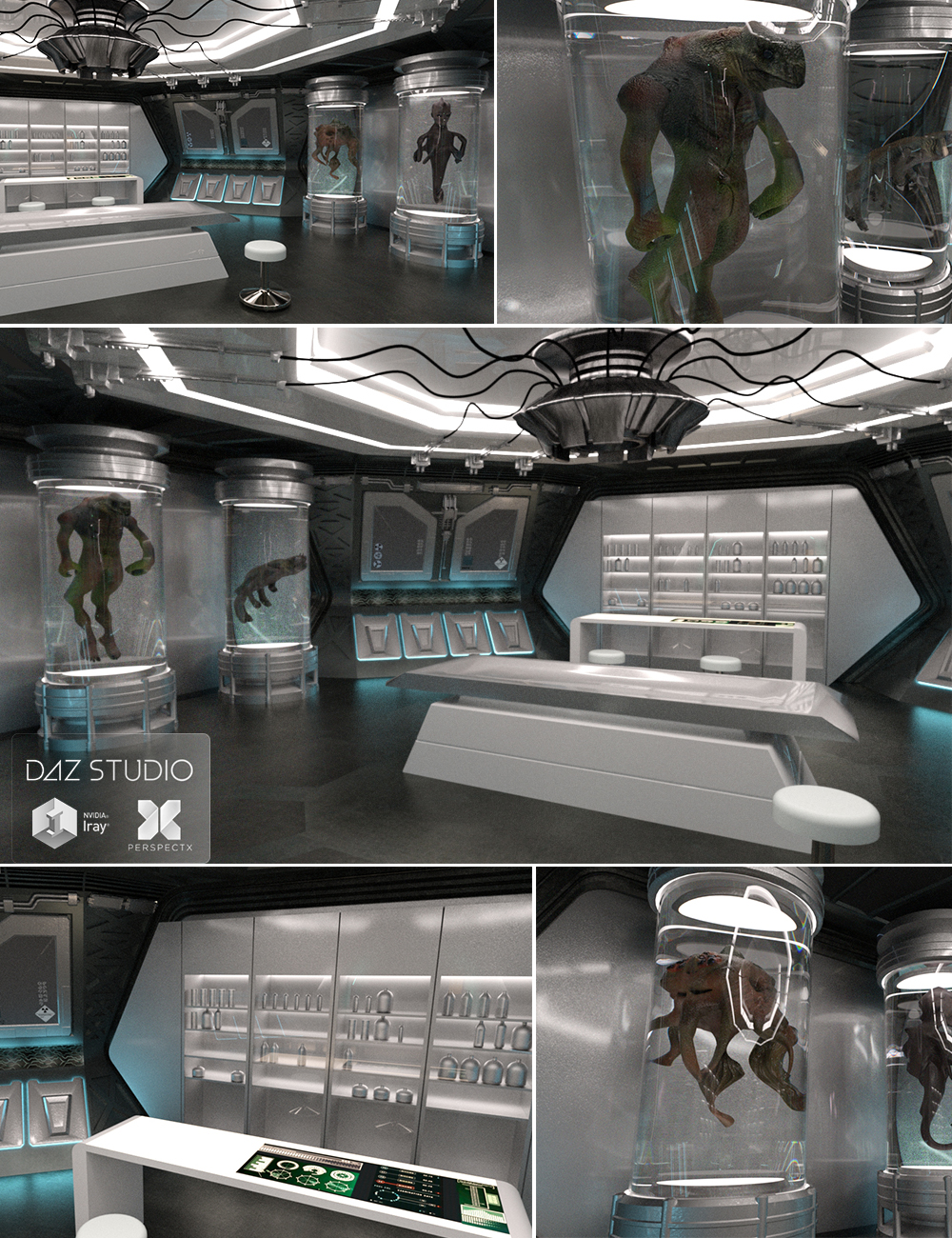 Spaceship Laboratory by: PerspectX, 3D Models by Daz 3D