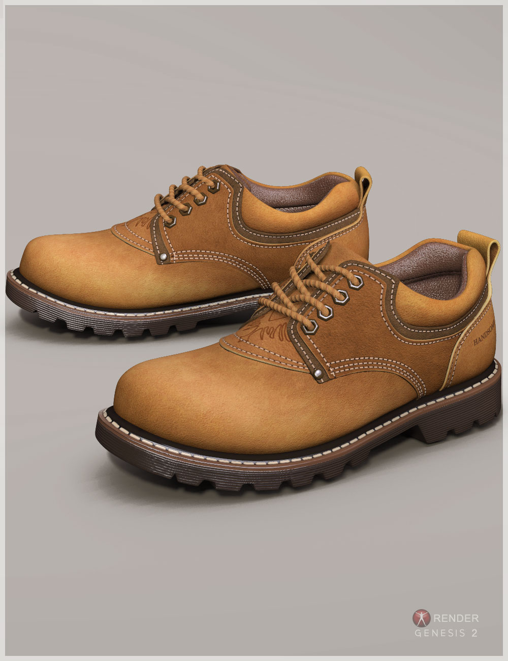 Short Boots for Genesis 2 & 3 Male(s) by: Cute3D, 3D Models by Daz 3D