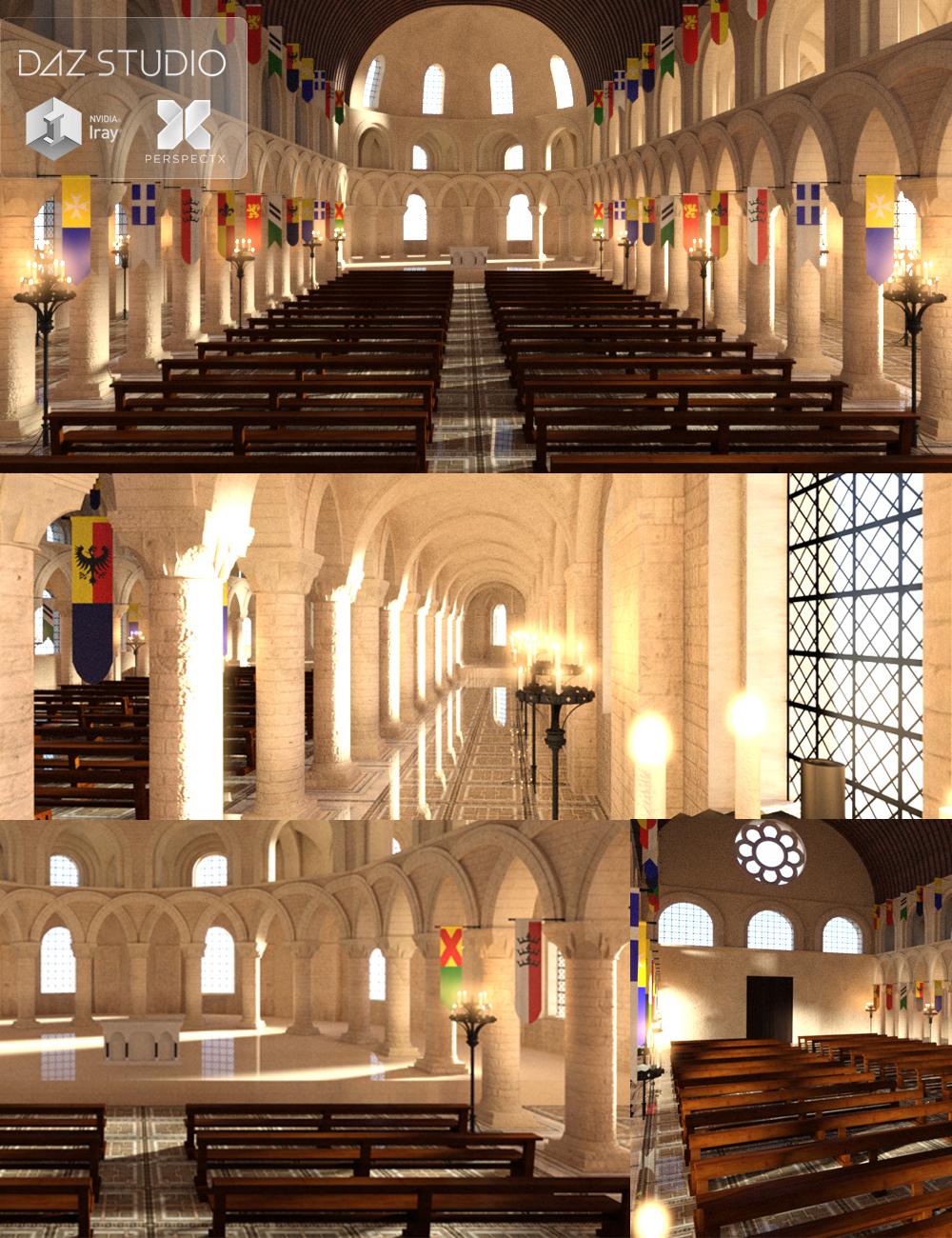 Romanesque Chapel by: PerspectX, 3D Models by Daz 3D