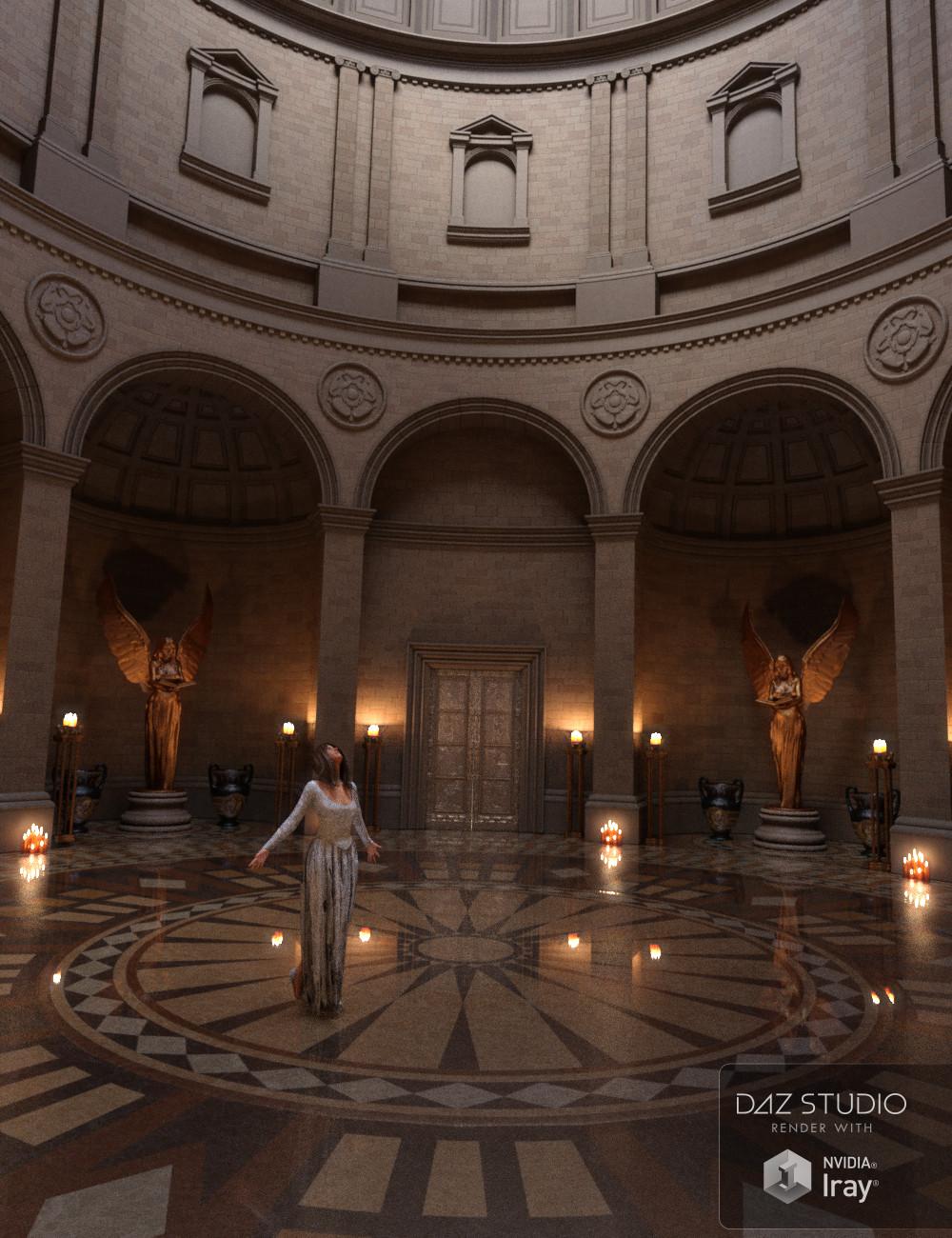 Ash Tree Mausoleum by: Merlin Studios, 3D Models by Daz 3D