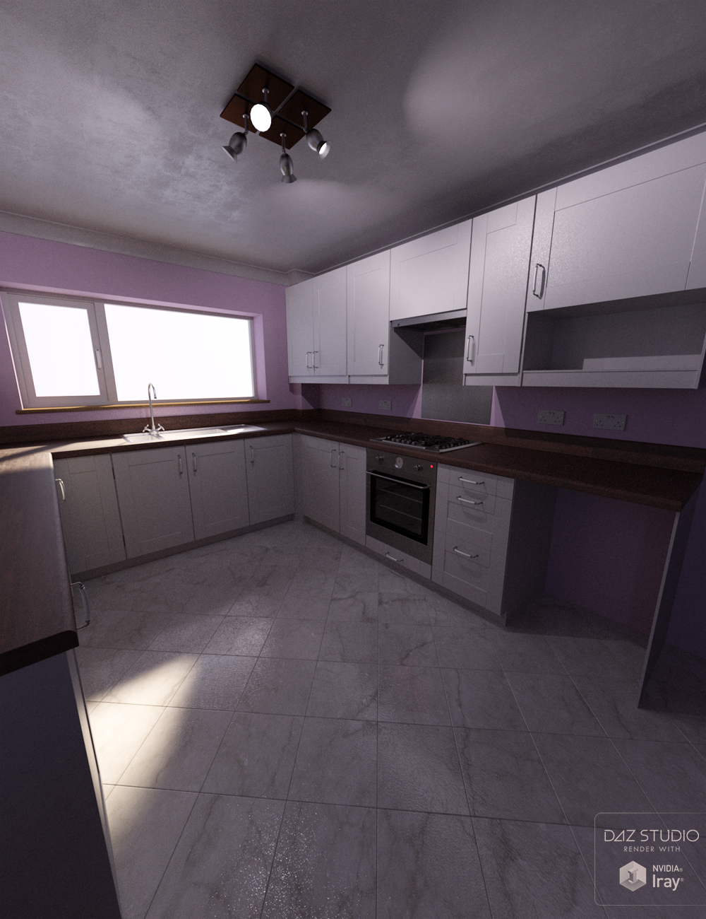 Northern Terrace Kitchen by: David BrinnenForbiddenWhispers, 3D Models by Daz 3D