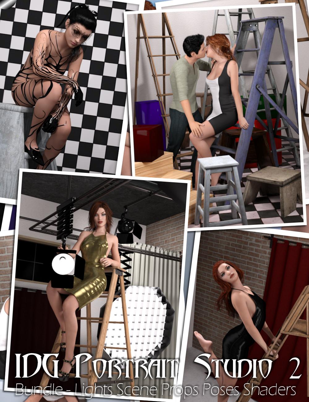 IDG Portrait Studio 2 Bundle by: IDG DesignsDestinysGardenInaneGlory, 3D Models by Daz 3D