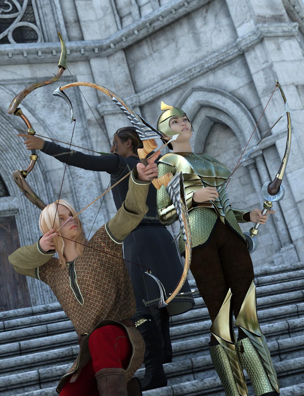 Fantasy Bows and Arrows by: Valandar, 3D Models by Daz 3D