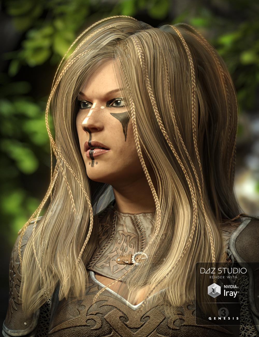Zoe Hair for Genesis 3 Female(s) by: 3DCelebrity, 3D Models by Daz 3D