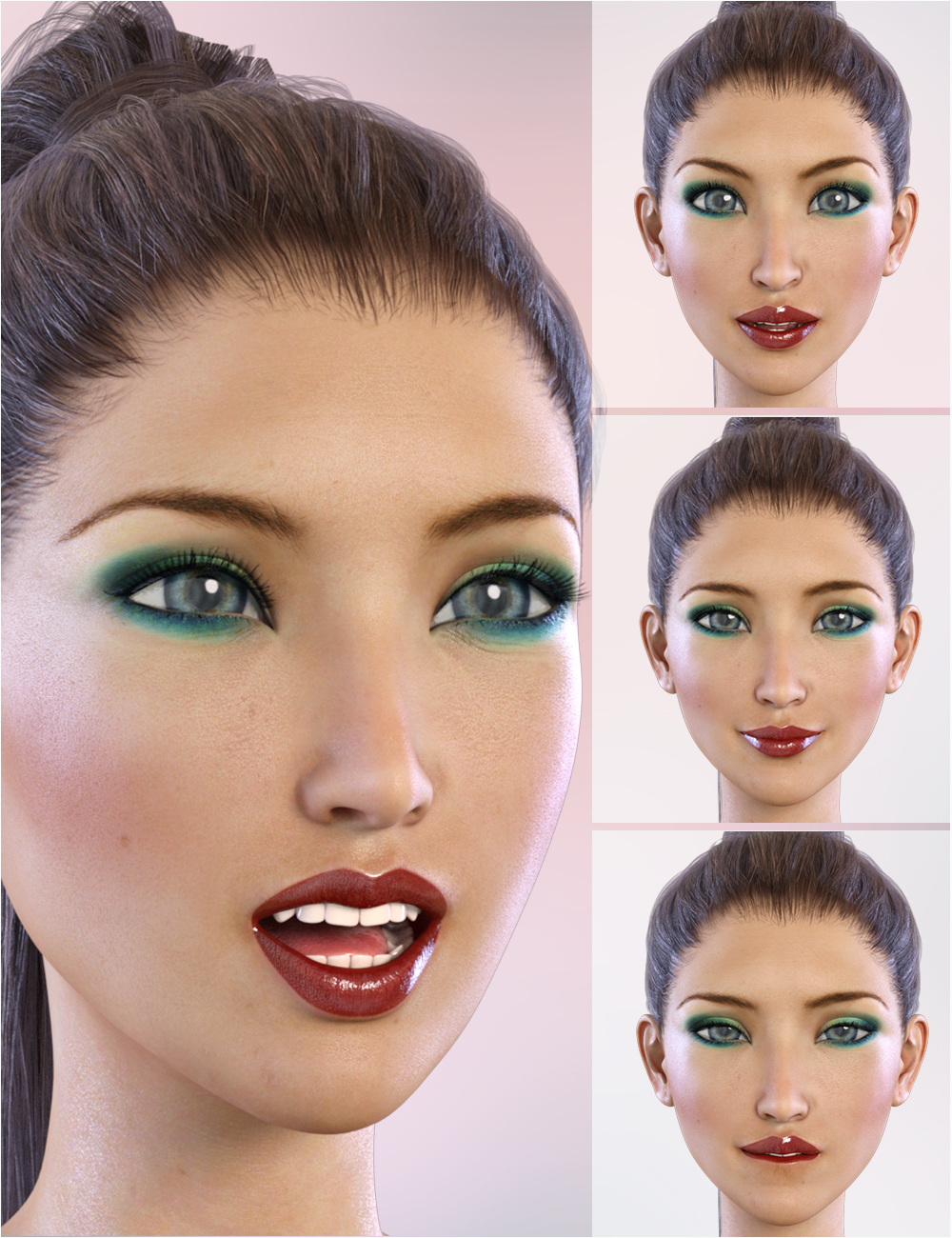 Z Dreamer Expressions for Aiko 7 by: Zeddicuss, 3D Models by Daz 3D