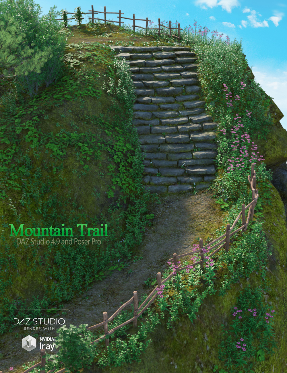 Mountain Trail by: PeanterraAndrey Pestryakov, 3D Models by Daz 3D