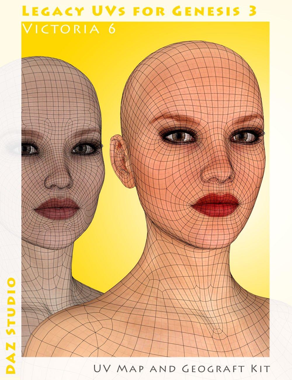 Legacy UVs for Genesis 3: Victoria 6 by: Cayman Studios, 3D Models by Daz 3D