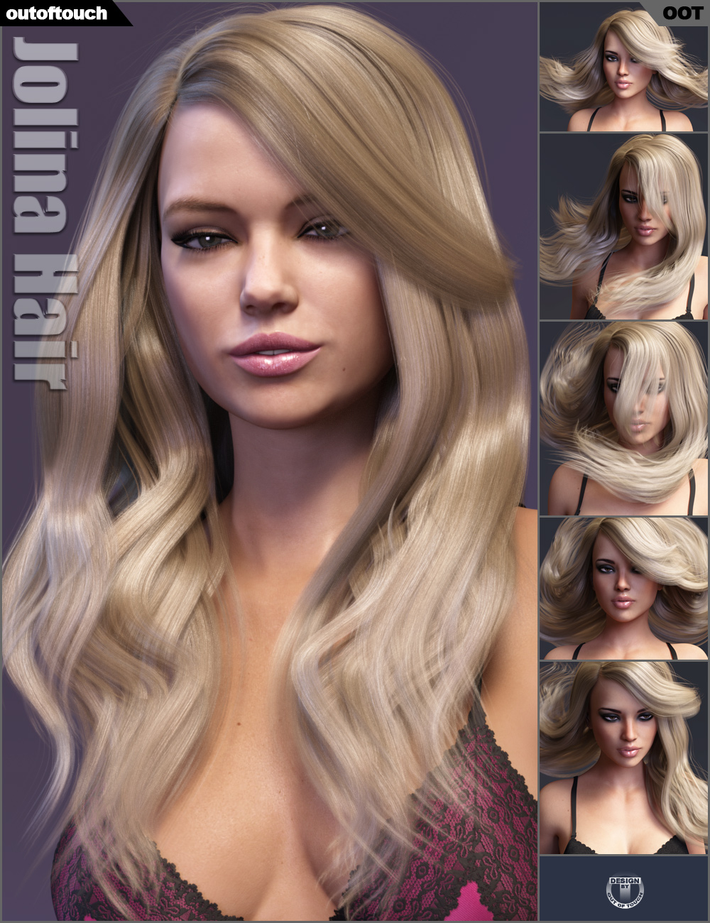 Jolina Hair by: outoftouch, 3D Models by Daz 3D