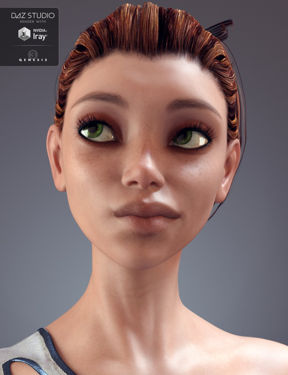 Eren for Genesis 3 Female by: Moonscape Graphics, 3D Models by Daz 3D