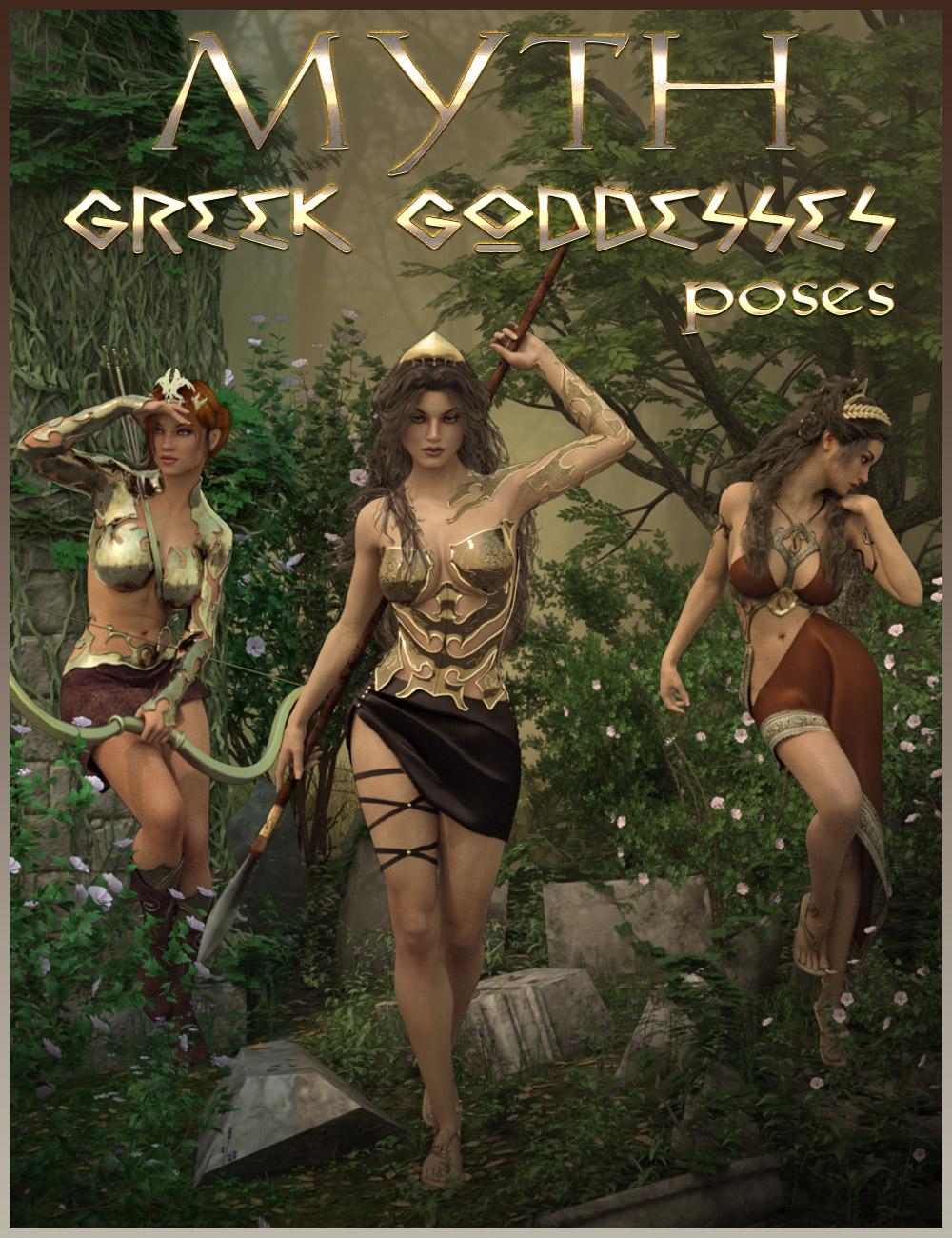 MYTH - Greek Goddesses Poses by: ilona, 3D Models by Daz 3D