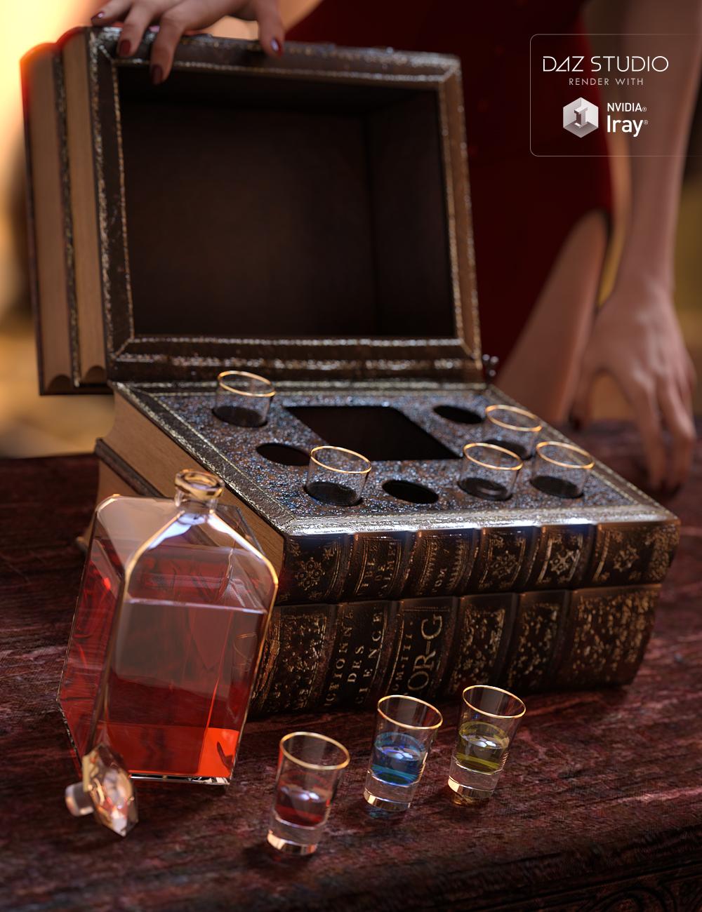 Set of Liqueur by: Kayleyss, 3D Models by Daz 3D