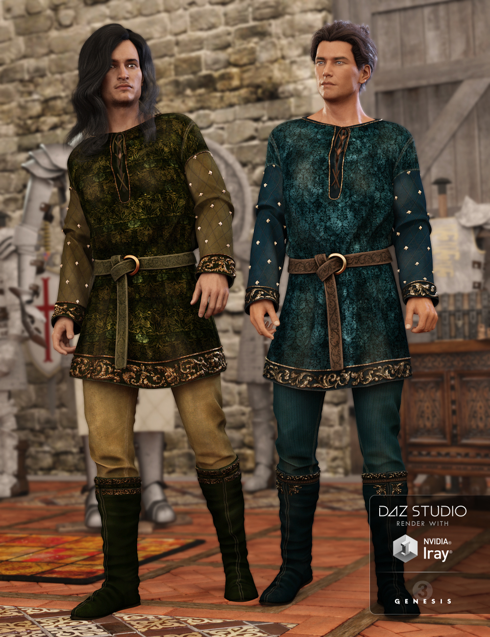 Grail Knights for the Peasant Outfit by: Arien, 3D Models by Daz 3D