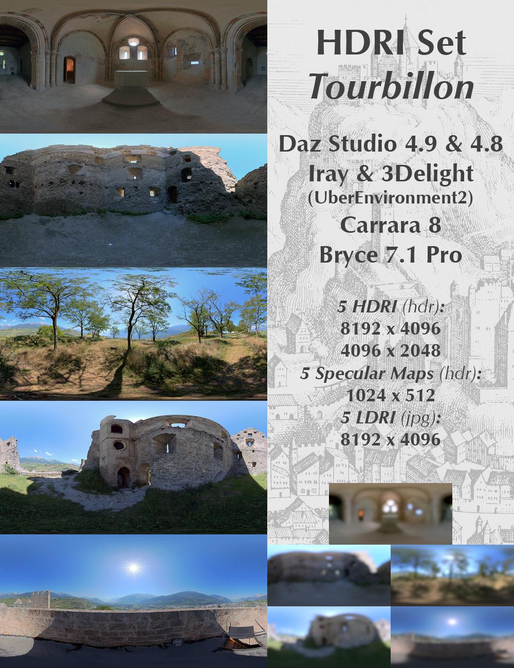 HDRI Set Tourbillon by: Horo, 3D Models by Daz 3D