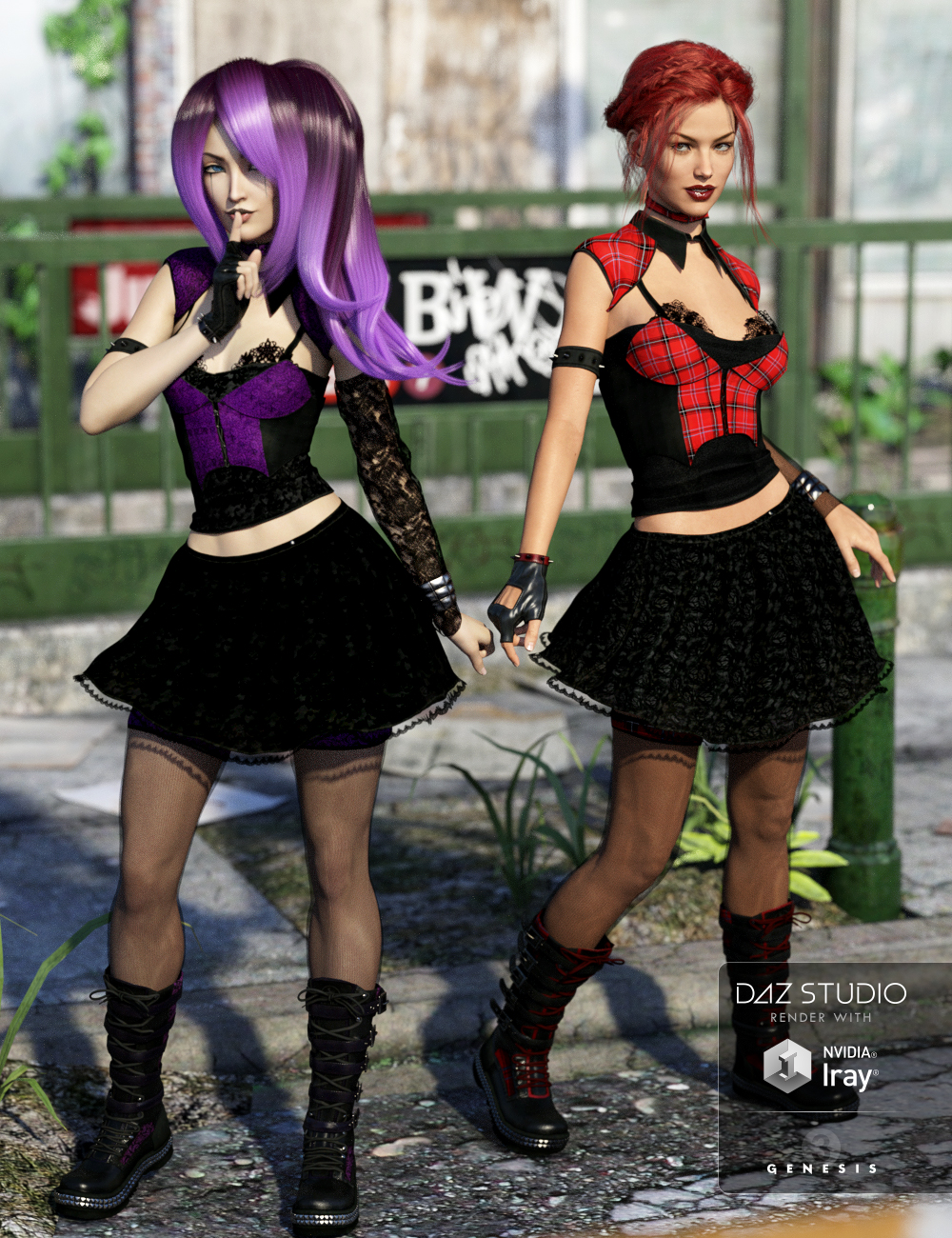 Goth Girl Sugar and Spice Textures by: Arien, 3D Models by Daz 3D