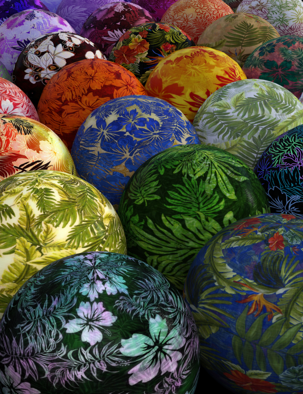DG Iray Tropical Fabrics Shaders by: IDG DesignsDestinysGarden, 3D Models by Daz 3D