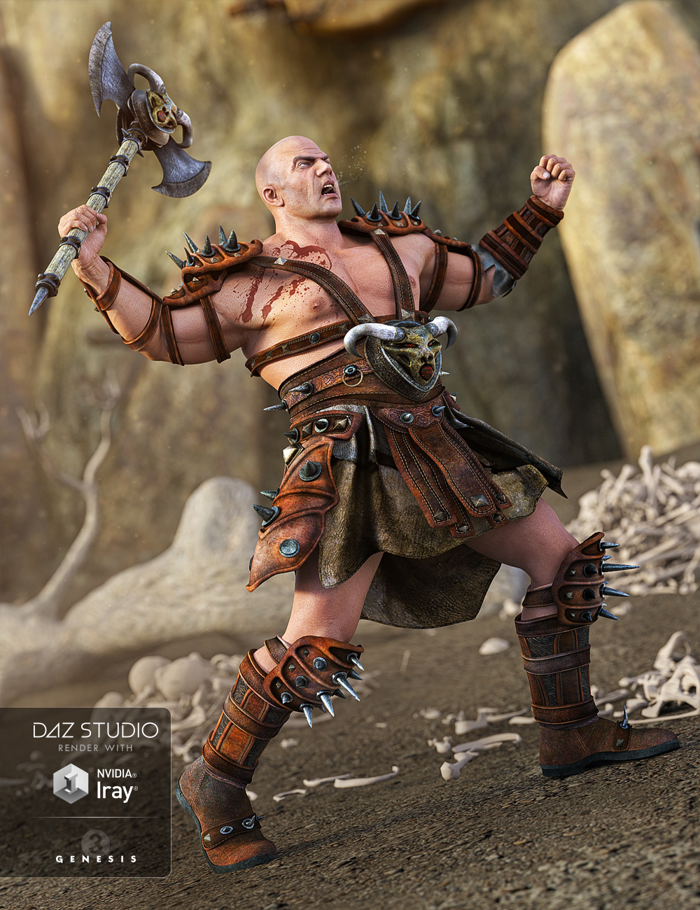 Heavy Barbarian for Genesis 3 Male(s) by: NikisatezSarsa, 3D Models by Daz 3D