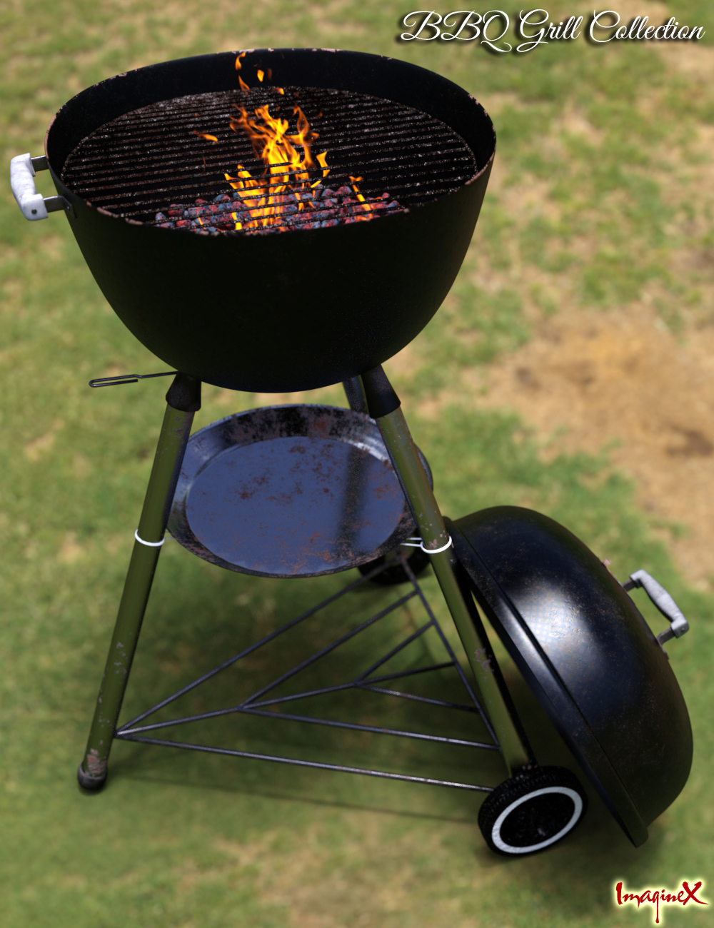 BBQ Grill Collection by: ImagineX, 3D Models by Daz 3D