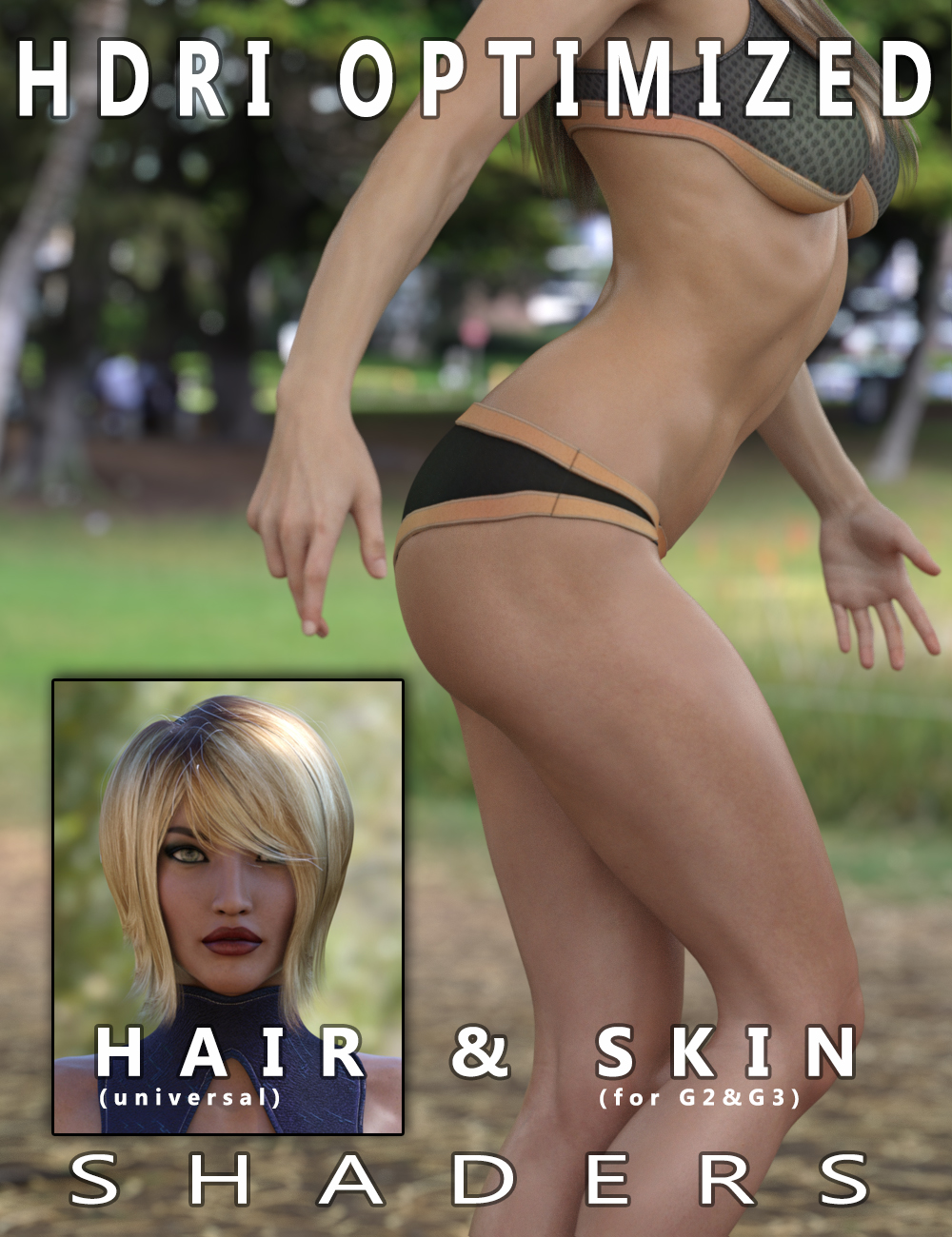 HDRI Optimized Skin & Hair Shaders by: Tolero, 3D Models by Daz 3D