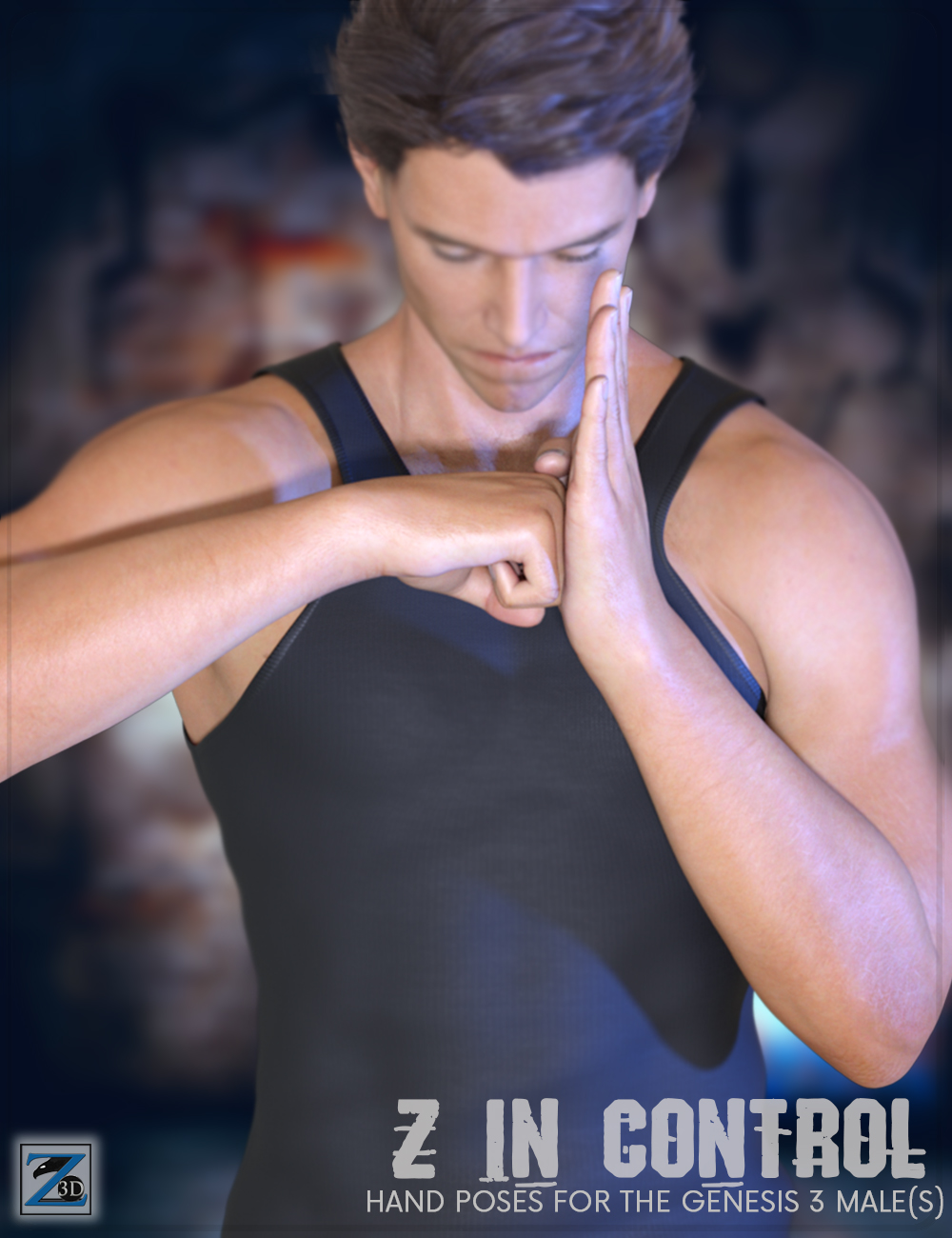 Z In Control - Hand Poses for the Genesis 3 Male(s) by: Zeddicuss, 3D Models by Daz 3D