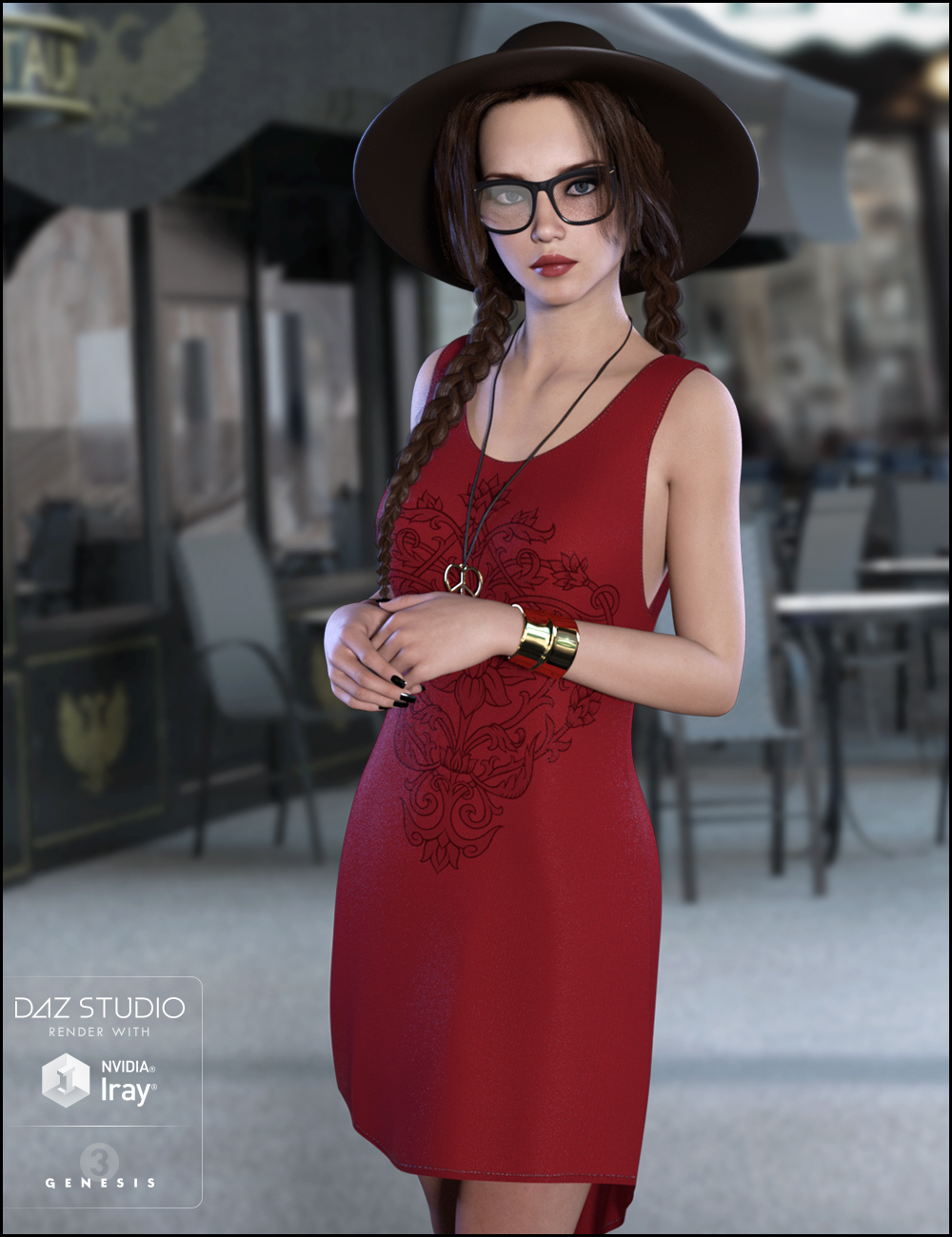Totally Hipster for Genesis 3 Female(s) by: JessaiiDemonicaEvilius, 3D Models by Daz 3D