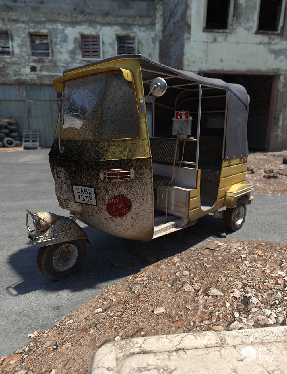 Auto Rickshaw by: David BrinnenForbiddenWhispers, 3D Models by Daz 3D