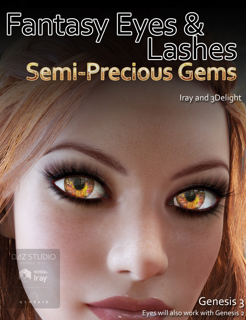 Fantasy Eyes - Semi Precious Gems and Lashes by: DraagonStorm, 3D Models by Daz 3D