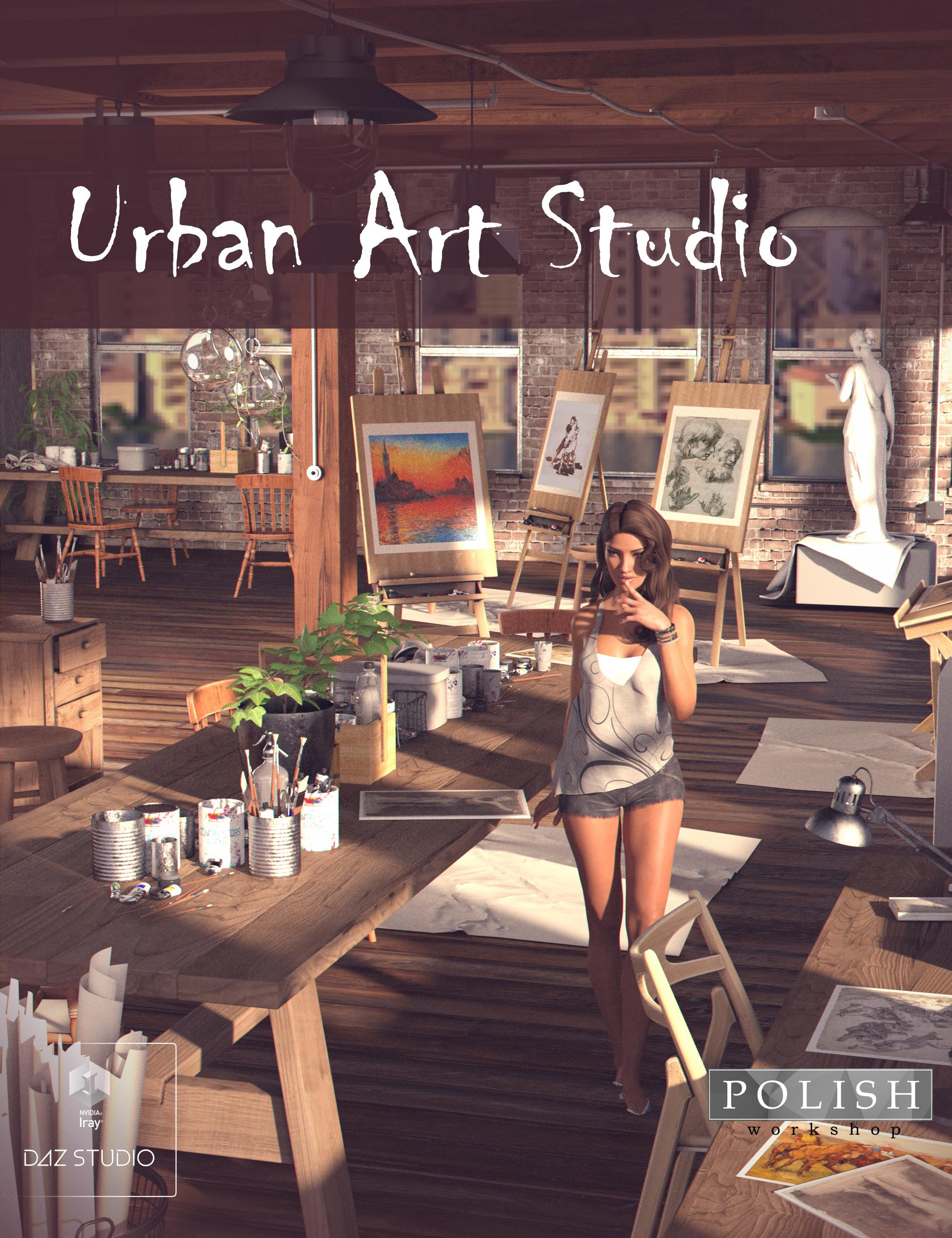 Urban Art Studio by: Polish, 3D Models by Daz 3D