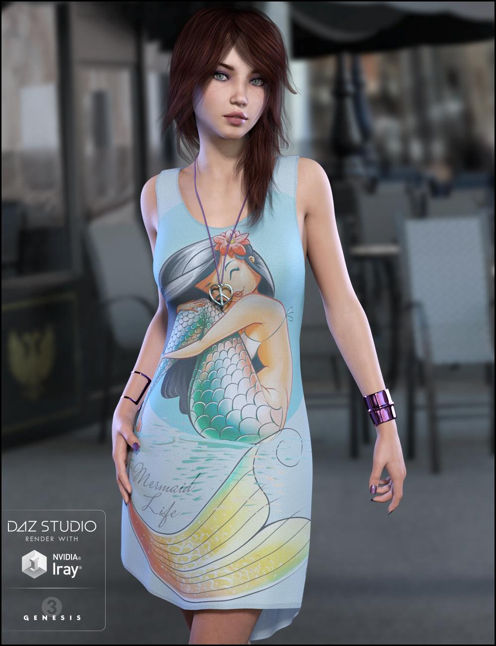 Blaire for Genesis 3 Female(s) by: JessaiiDemonicaEvilius, 3D Models by Daz 3D
