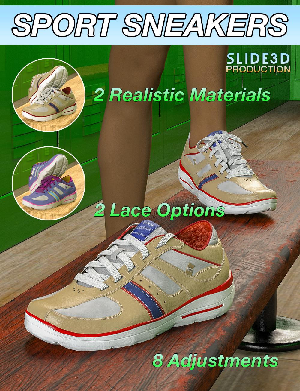 Slide3D Sport Sneakers for Genesis 3 Female(s) by: Slide3D, 3D Models by Daz 3D