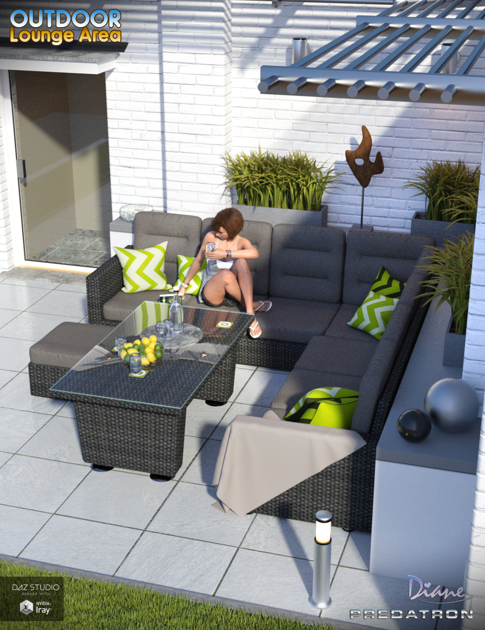 Outdoor Lounge Area by: DianePredatron, 3D Models by Daz 3D