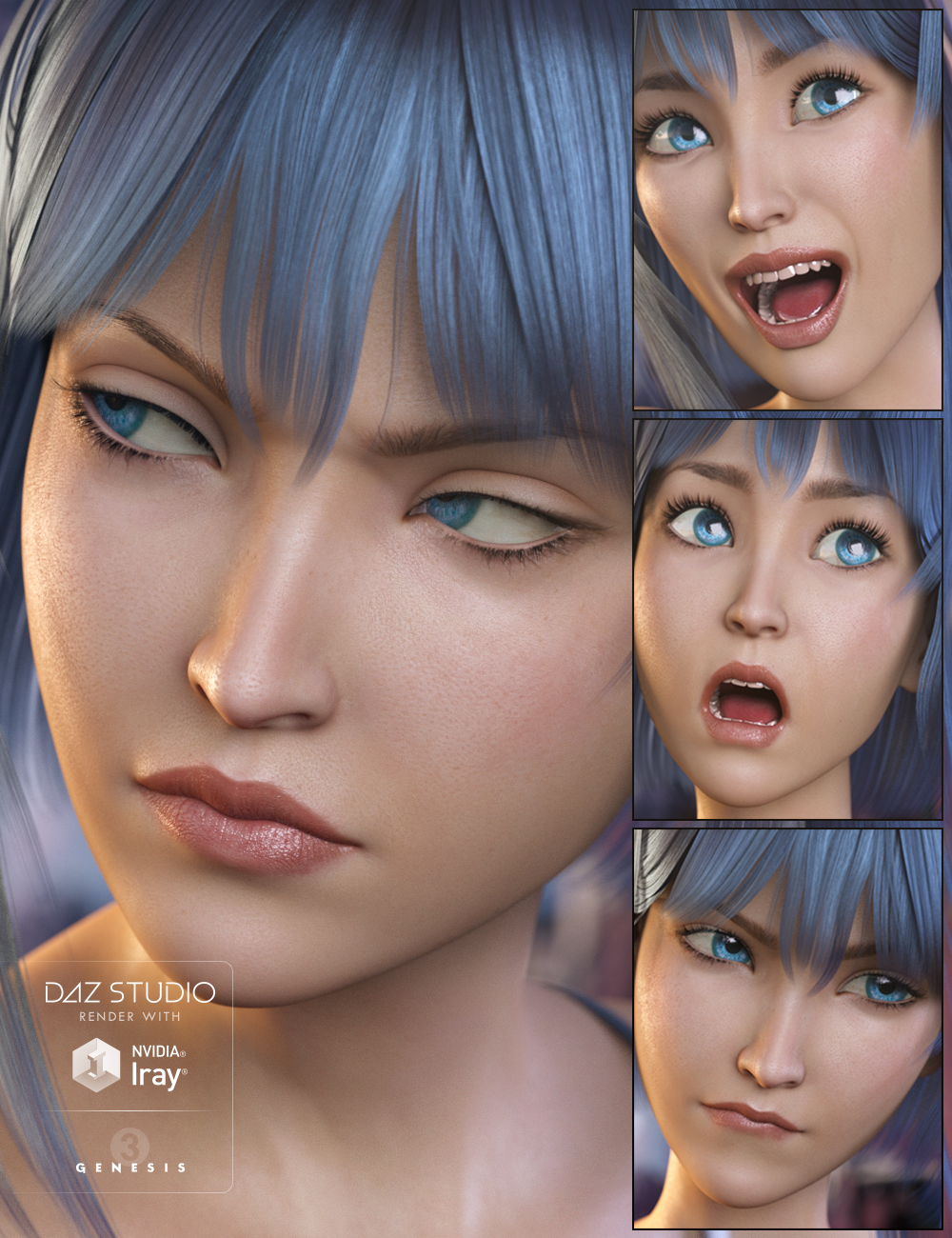 Aiko 7 Expressive by: Neikdian, 3D Models by Daz 3D