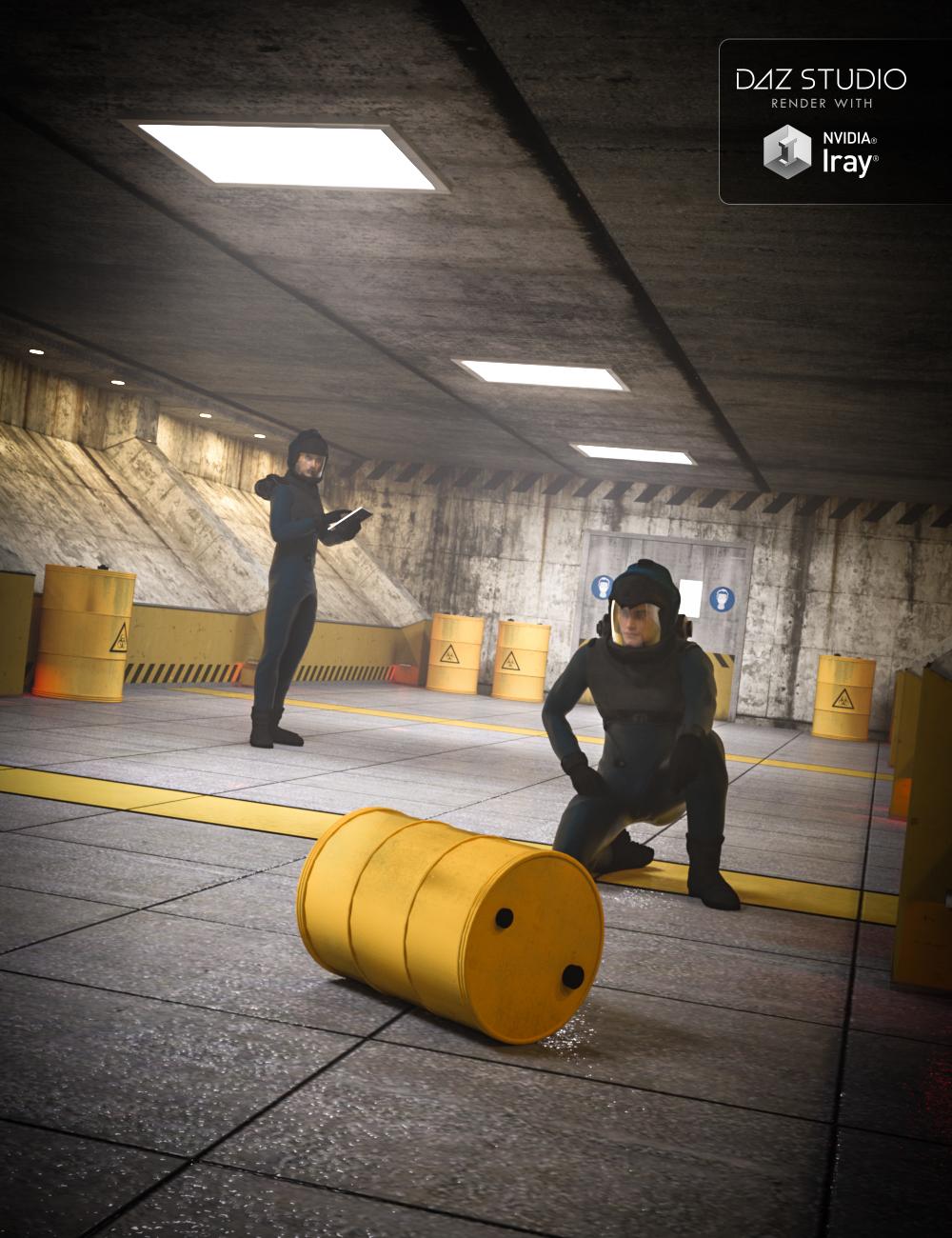Radioactive Corridor Interior by: , 3D Models by Daz 3D