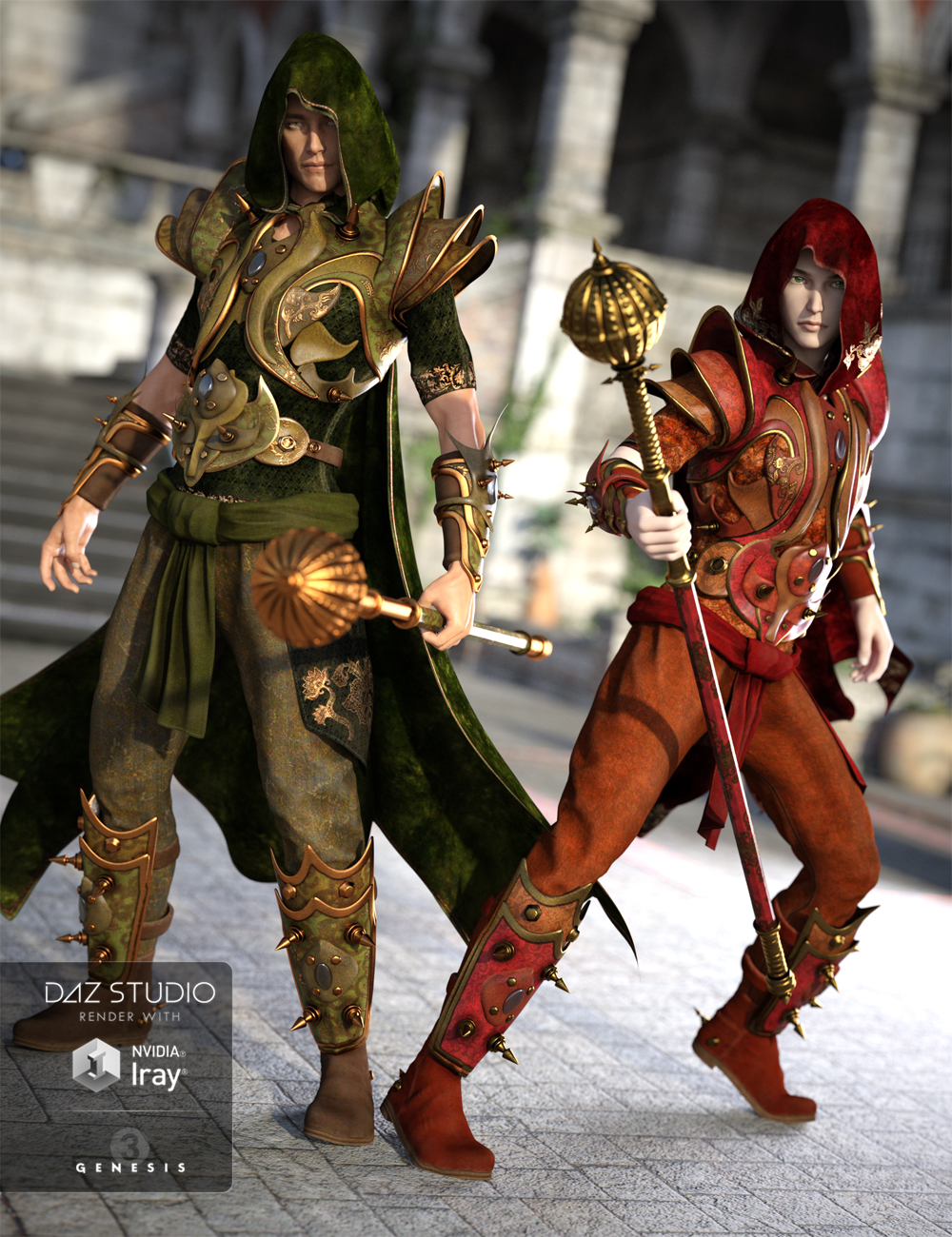 Arcane Summoner Elemental Outfit Textures by: Arien, 3D Models by Daz 3D