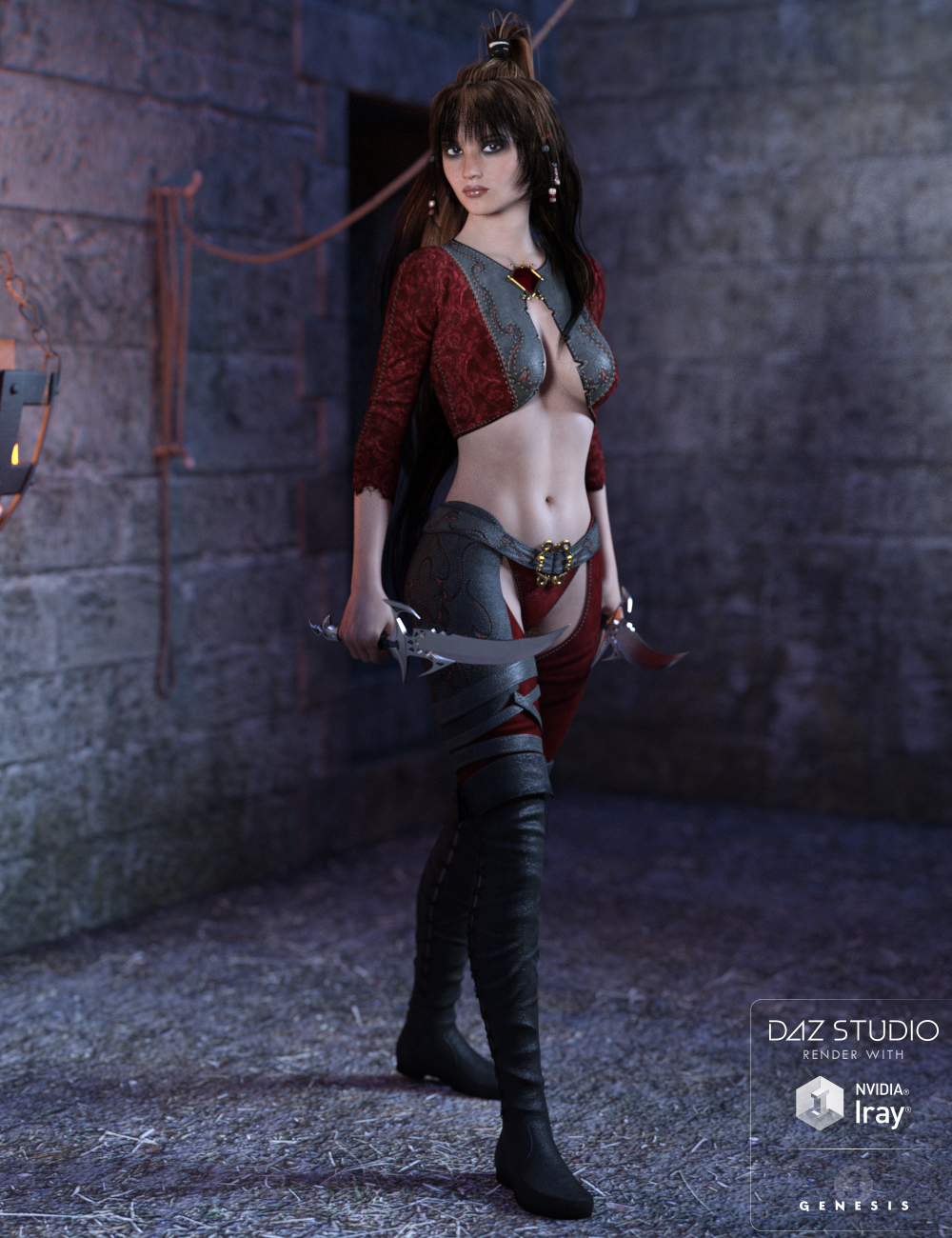 Vega Outfit for Genesis 3 Female(s) by: Lilflame, 3D Models by Daz 3D
