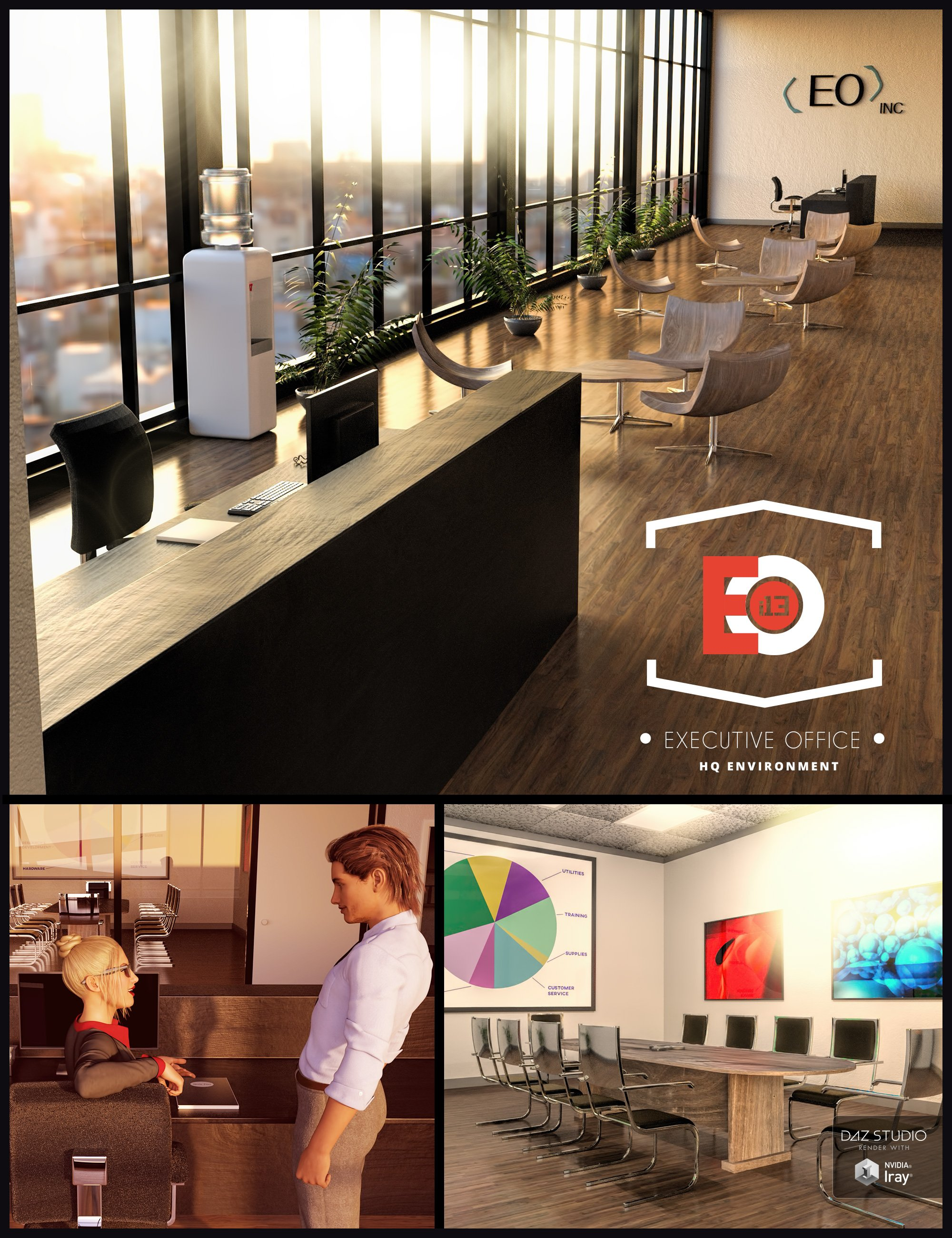 i13 Executive Office Environment by: ironman13, 3D Models by Daz 3D