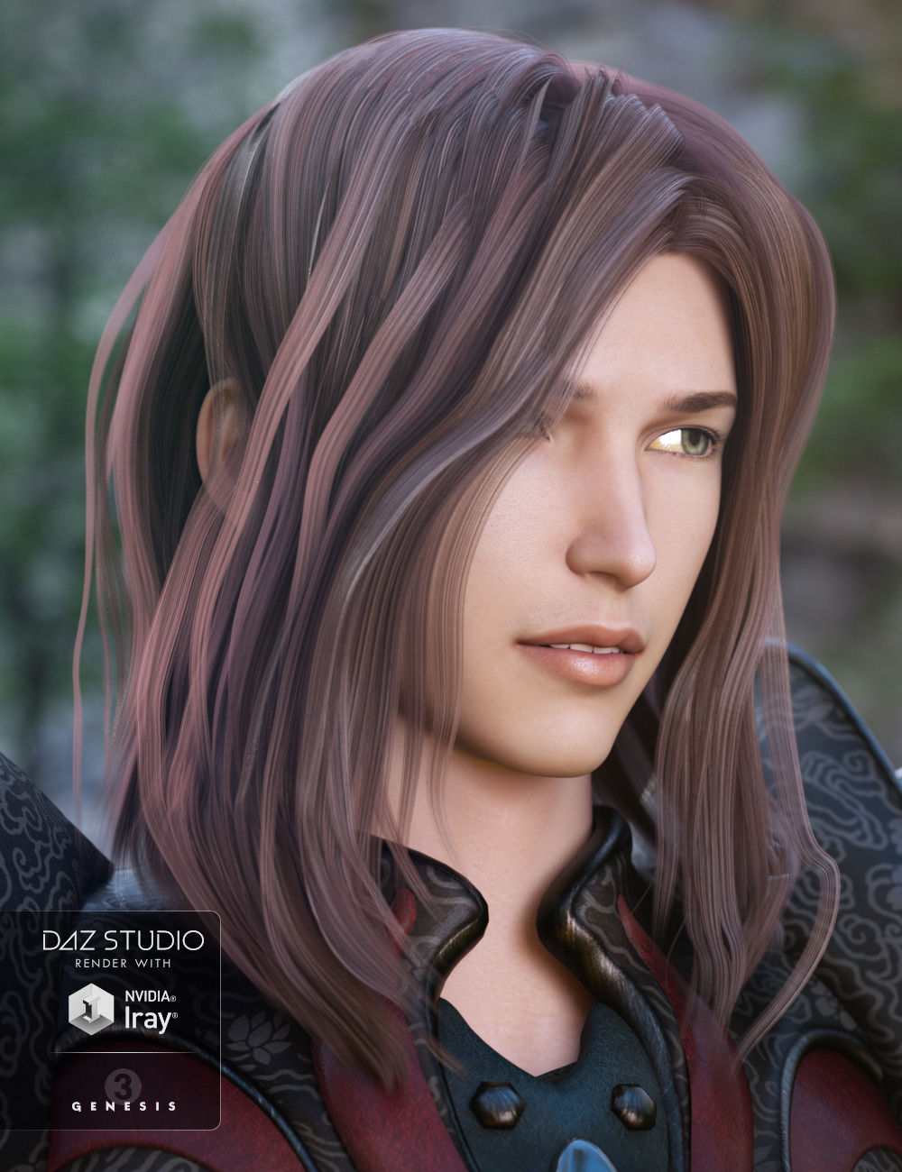 Akira Hair for Genesis 3 Male(s) by: 3DCelebrity, 3D Models by Daz 3D