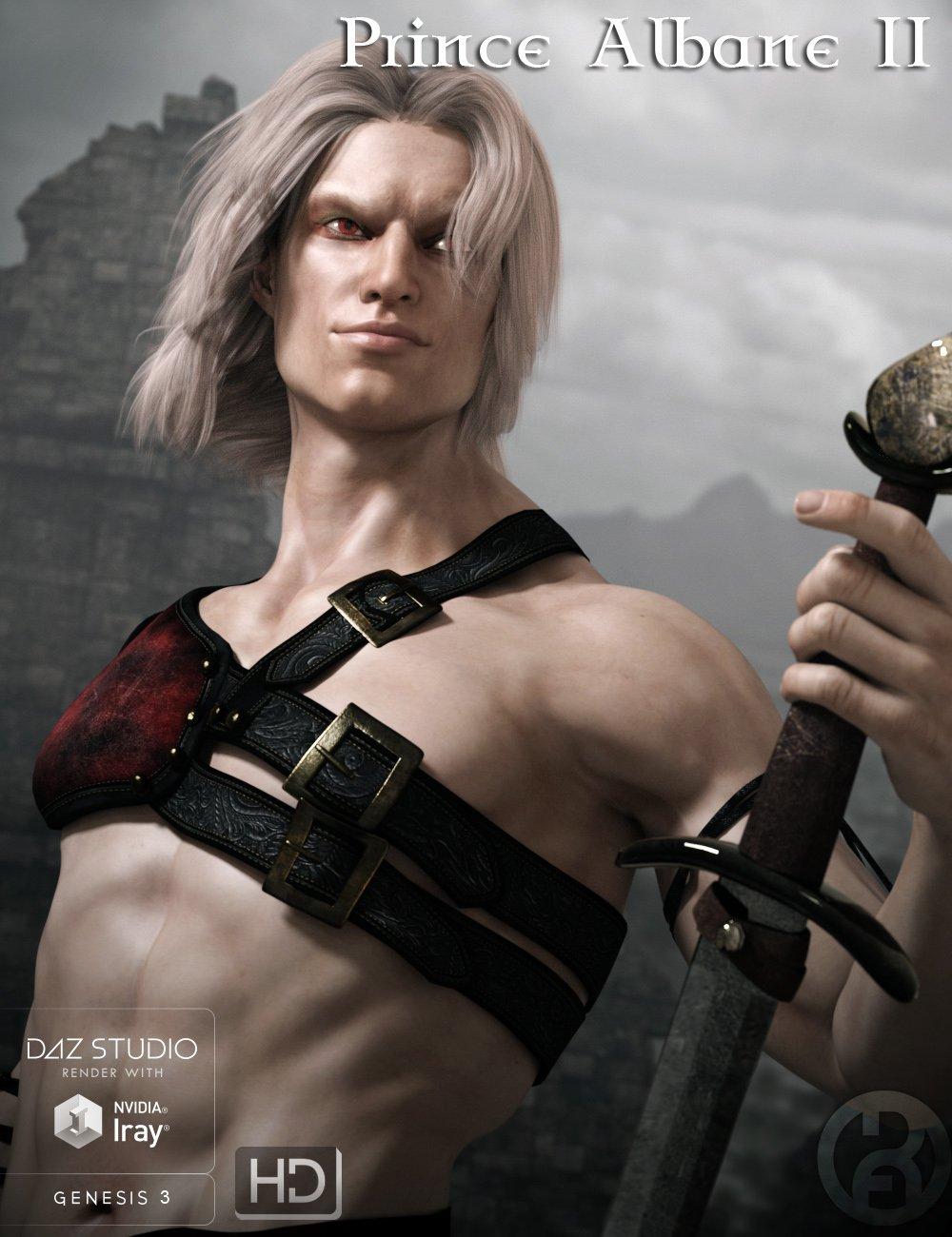 Prince Albane II for Genesis 3 Male by: RawArt, 3D Models by Daz 3D