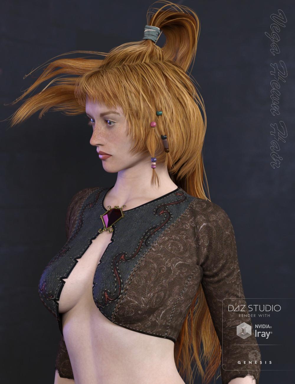 Vega Hewn Hair for Genesis 3 Female(s) by: goldtassel, 3D Models by Daz 3D