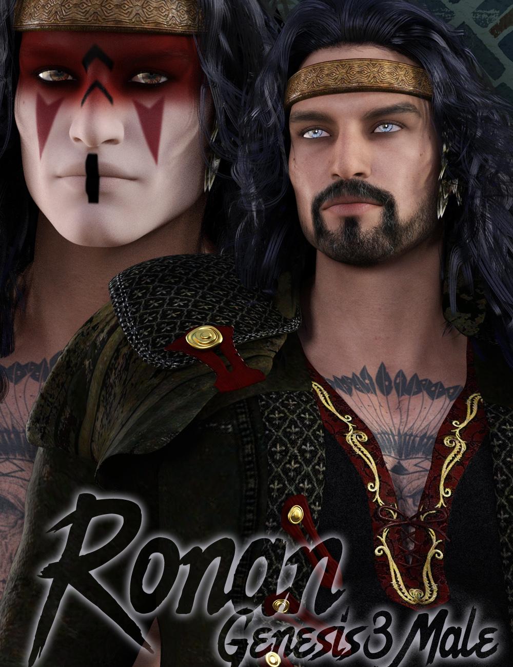 Ronan Genesis 3 Male by: gypsyangel, 3D Models by Daz 3D