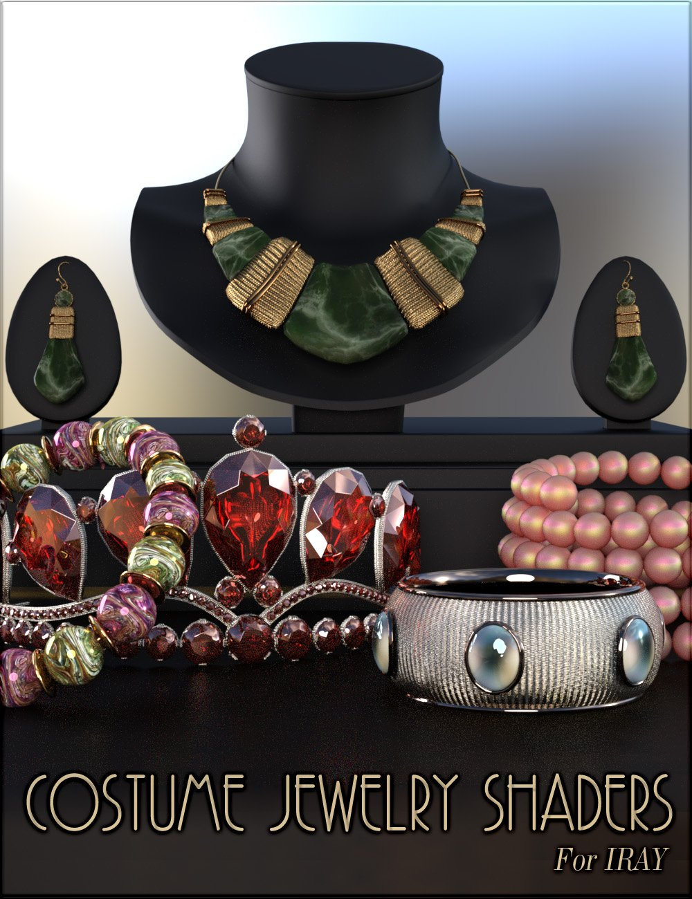 Costume Jewelry Shaders for Iray by: vyktohria, 3D Models by Daz 3D