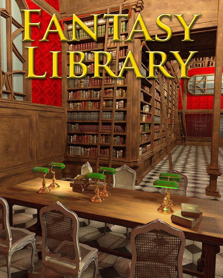Fantasy Library by: powerage, 3D Models by Daz 3D